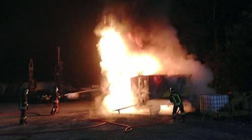 Val Susa, ancora un attentato Bruciato container dell'Italcoge