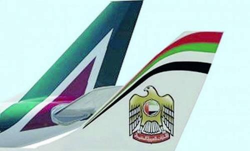 Il piano Etihad per Alitalia: basi a Roma e Abu Dhabi