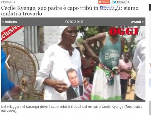 """Kyenge, rito vudù anti-Calderoli I consigli di Salvini e Borghezio: """"Pensa a un esorcismo"""""""