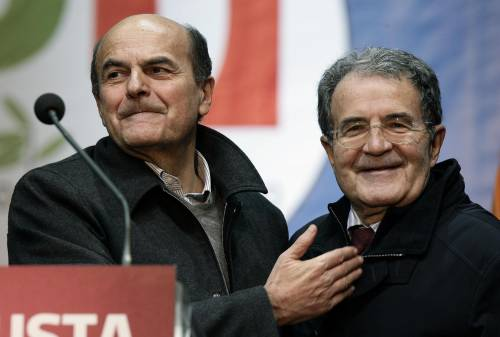 Romano Prodi con Pierluigi Bersani