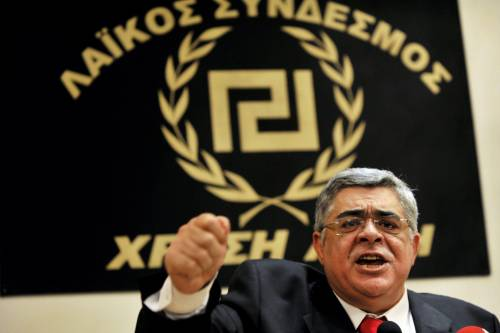 Il leader di Alba Dorata, Nikos Michaloliakos