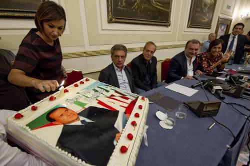 A Napoli manifestazione di Forza Italia per festeggiare il compleanno del Cav
