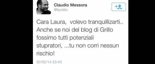 Tweet choc di Messora contro la Boldrini