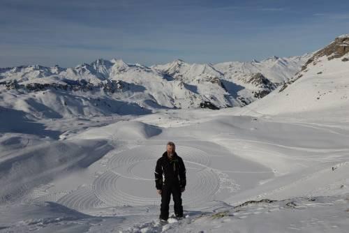 Simon Beck, l'artista della neve