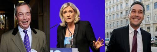 Farrel, Le Pen e Strache