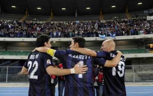Milito, Zanetti e Cambiasso