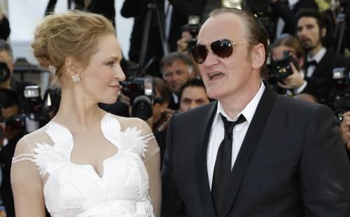 Uma Thurman e Quentin Tarantino insieme al Festival di Cannes