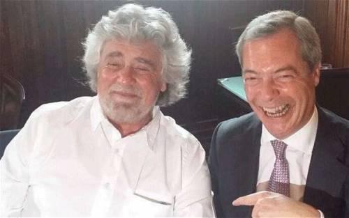 Grillo inutile anche in Europa: salta l'eurogruppo con Farage