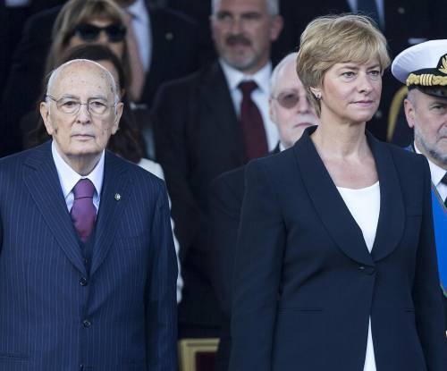 Giorgio Napolitano e Roberta Pinotti