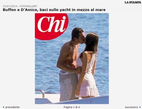 Buffon-D'amico e i baci sullo yacht 2