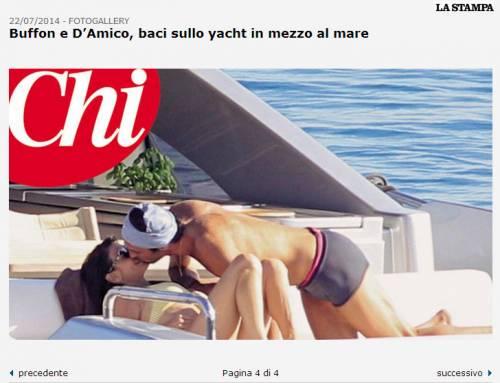 Buffon-D'amico e i baci sullo yacht 3