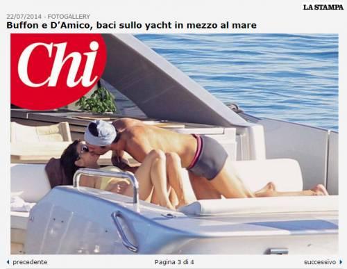 Buffon-D'amico e i baci sullo yacht 4