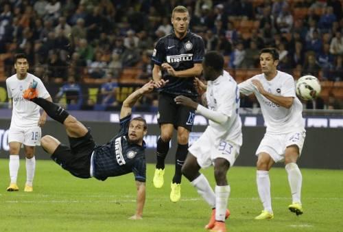 La bella torsione di Osvaldo per l'1-0, sulla quale De Marco avrebbe espresso qualche dubbio