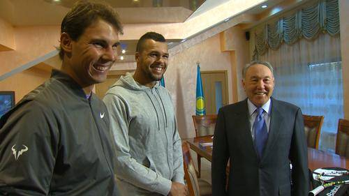 Non solo tennis, ma anche impegni istituzionali per Nadal e Tsonga in Kazakistan