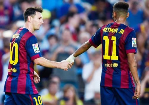 Per Neymar e Messi 5 reti in due contro il Granada