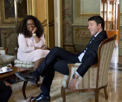 Il premier Matteo Renzi e Oprah Winfrey