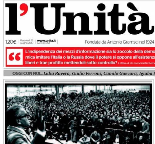 """""""Ho votato Grillo ma ora riapro l'Unità"""""""