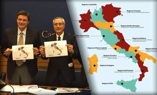 Cartina Italia Confini Regioni.Il Pd Vuole Ridisegnare L Italia Ecco Le Regioni Che Spariranno Ilgiornale It
