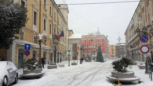 Neve nel centro di Campobasso