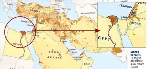Cartina Politica Israele.Scandalo Negli Usa Esce Un Atlante Senza Israele Ilgiornale It