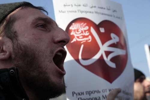 Grozny, manifestazione contro Charlie Hebdo 4