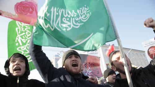 Grozny, manifestazione contro Charlie Hebdo 5