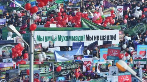 Grozny, manifestazione contro Charlie Hebdo 2