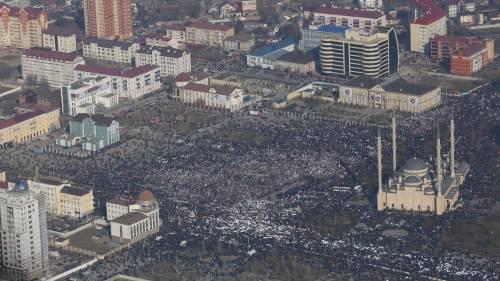Grozny, manifestazione contro Charlie Hebdo 7