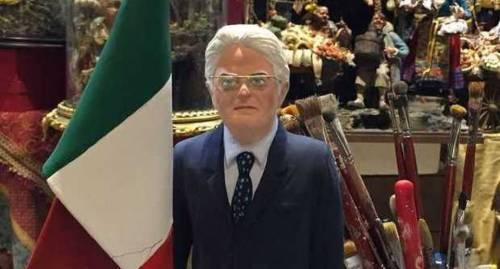 A Napoli spunta già la statuetta del presidente Mattarella