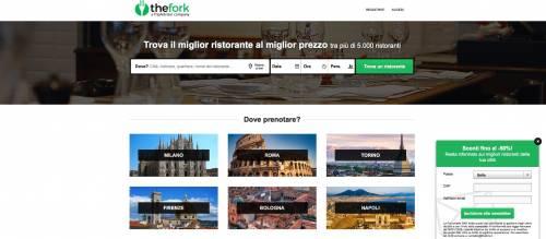 TheFork, basta un clic per prenotare il ristorante online