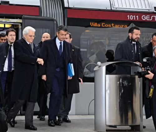 Mattarella va a Firenze in treno e tram 4