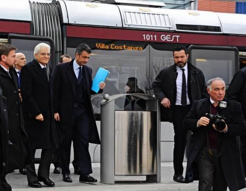 Mattarella va a Firenze in treno e tram 5
