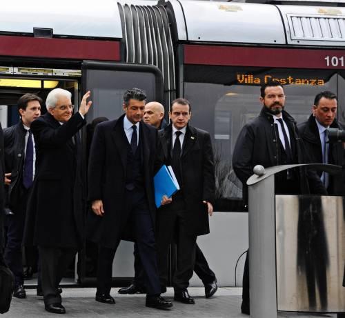 Mattarella va a Firenze in treno e tram 6