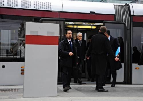 Mattarella va a Firenze in treno e tram 8