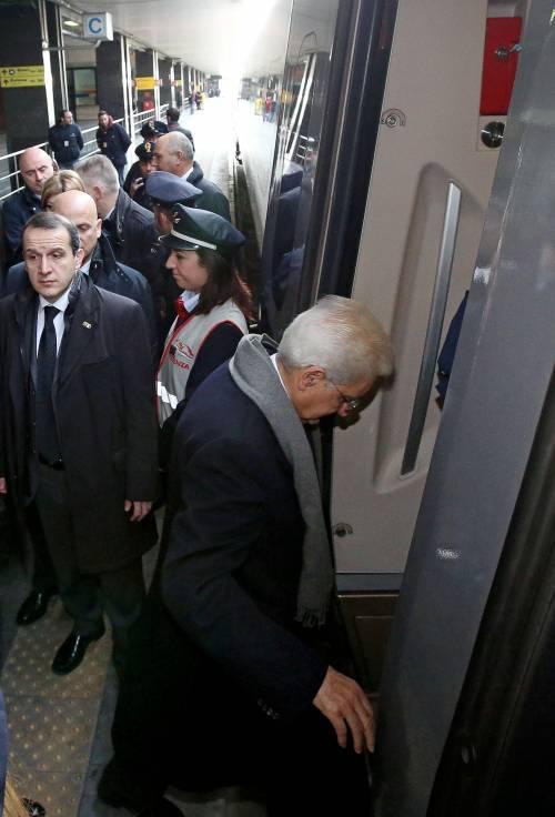 Mattarella va a Firenze in treno e tram 13