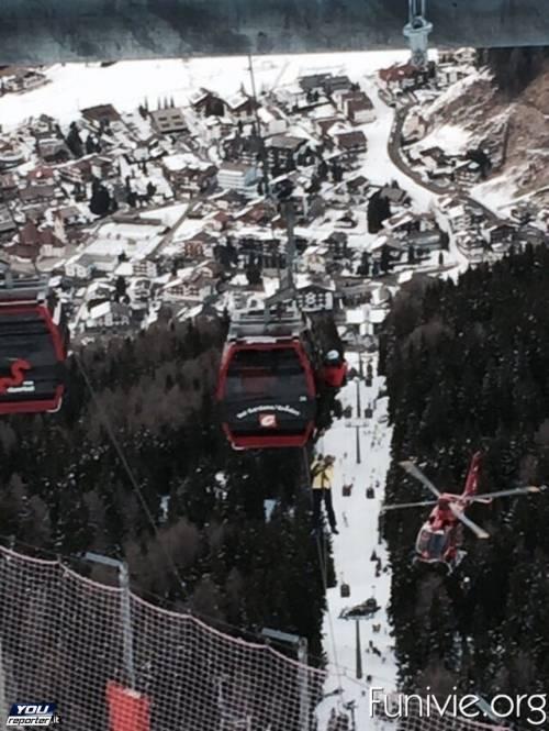 Evacuata la cabinovia in Val Gardena 4