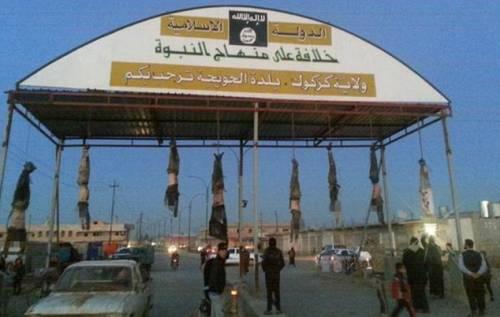 Orrore Isis a Kirkuk: cadaveri a testa in giù 2
