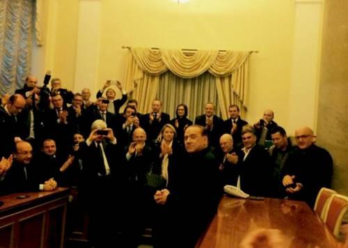 Berlusconi tra i sostenitori a Palazzo Grazioli 9