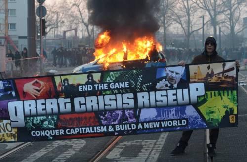 Blockupy, scontri a Francoforte 6