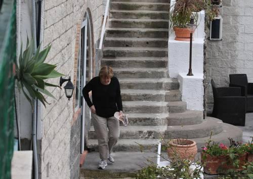 La Merkel a Ischia tra pilates e verdurine 2