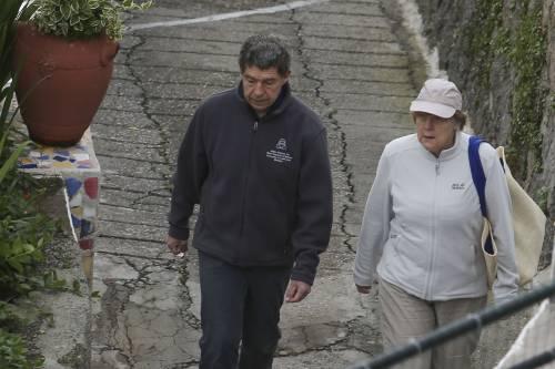 La Merkel a Ischia tra pilates e verdurine 4