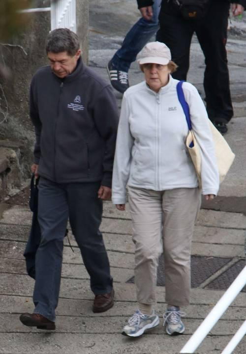 La Merkel a Ischia tra pilates e verdurine 6