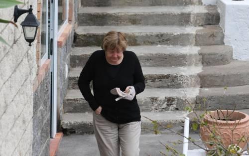 La Merkel a Ischia tra pilates e verdurine 5