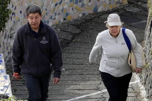 La Merkel a Ischia tra pilates e verdurine 8