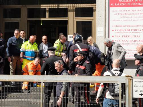 Spari al tribunale di Milano: le immagini dall'interno 3