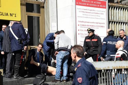 Spari al tribunale di Milano: le immagini dall'interno 4