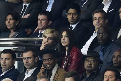 Bellucci e Sarkozy allo stadio 3