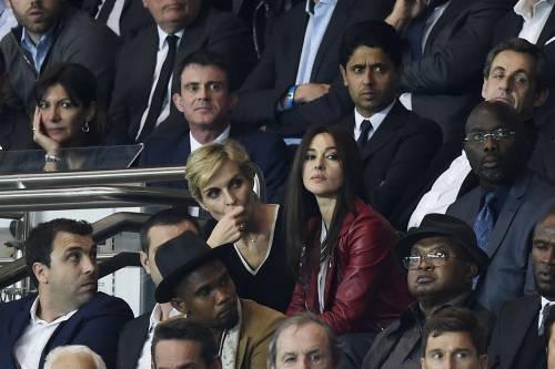 Bellucci e Sarkozy allo stadio 4