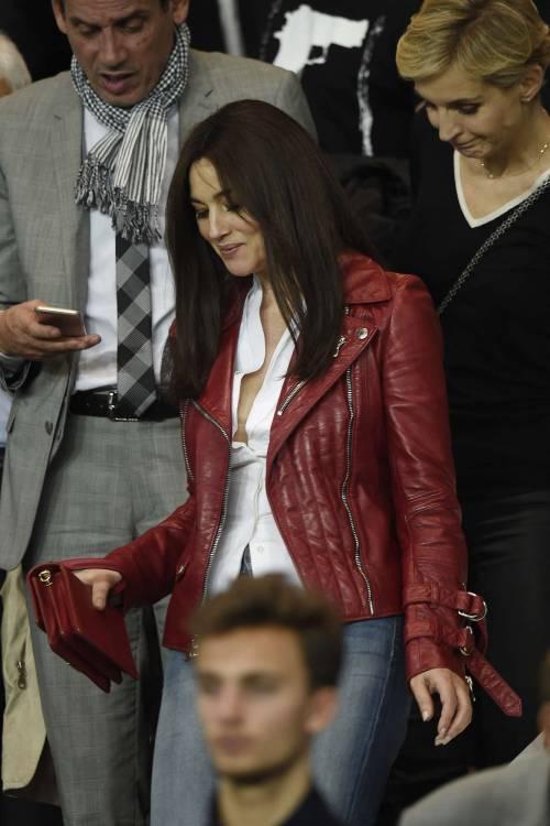 Bellucci e Sarkozy allo stadio 7