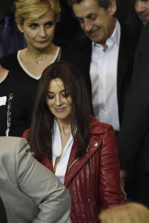 Bellucci e Sarkozy allo stadio 6